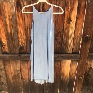 Mossimo Supply Co. Chambray Halter Top Swing Dress